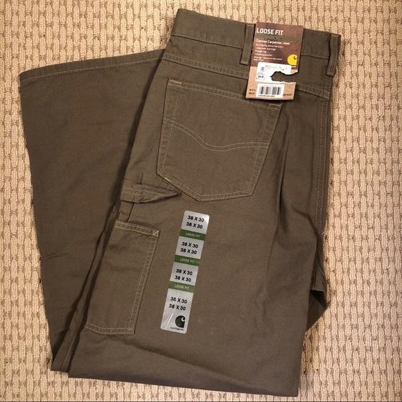e930b1c1d0 NWT Men's 38x30 Carhartt Canvas Carpenter Jeans. M_5b4bd8aa7386bc38b25c3332